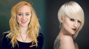 blonde bob before and after