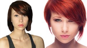 red bob before and after